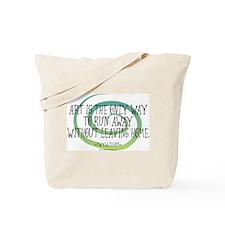 Run Away Artist Tote Bag