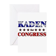 KADEN for congress Greeting Card