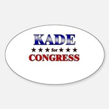KADE for congress Oval Decal