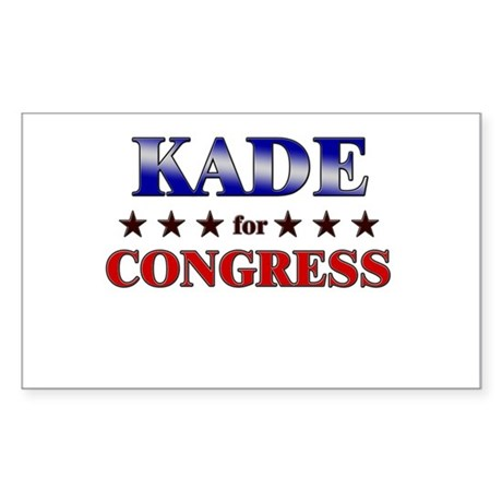 KADE for congress Rectangle Sticker