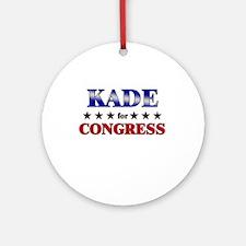 KADE for congress Ornament (Round)