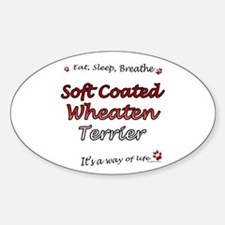 Wheaten Breathe Oval Decal