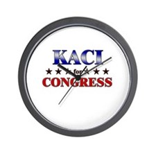 KACI for congress Wall Clock