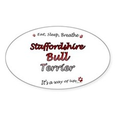 Staffy Breathe Oval Decal
