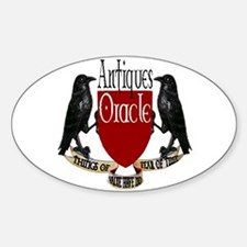 ANTIQUES ORACLE Oval Decal