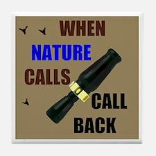 NATURE CALLS Tile Coaster