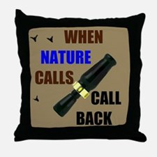 NATURE CALLS Throw Pillow