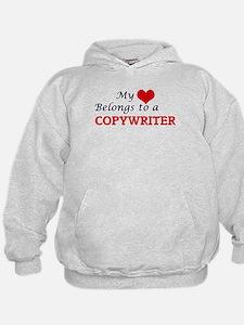 My heart belongs to a Copywriter Hoodie