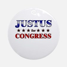 JUSTUS for congress Ornament (Round)