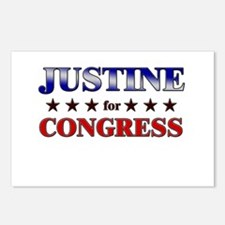 JUSTINE for congress Postcards (Package of 8)