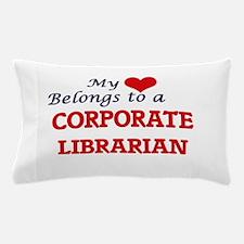 My heart belongs to a Corporate Librar Pillow Case