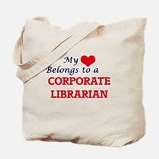 My heart belongs to a Corporate Librarian Tote Bag
