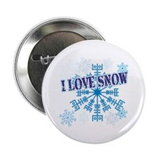 "I Love Snow 2.25"" Button"