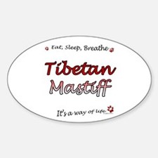 Tibetan Breathe Oval Decal