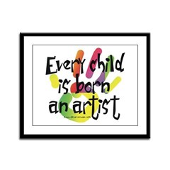 Every Child is an Artist Framed Panel Print