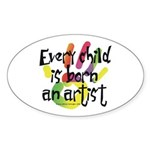 Every Child is an Artist Oval Sticker