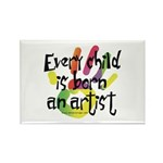 Every Child is an Artist Rectangle Magnet (100 pac