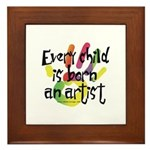 Every Child is an Artist Framed Tile