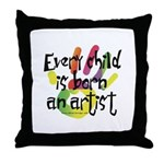 Every Child is an Artist Throw Pillow