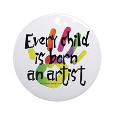 Every Child is an Artist Ornament (Round)