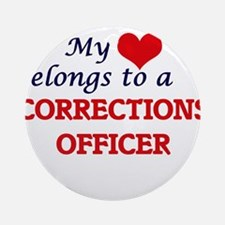 My heart belongs to a Corrections O Round Ornament