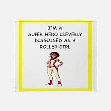 roller girl Throw Blanket