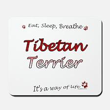 Tibetan Terrier Breathe Mousepad