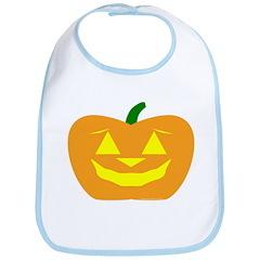 Smiling Pumpkin Halloween Bib