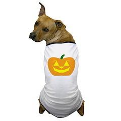 Smiling Pumpkin Halloween Dog T-Shirt