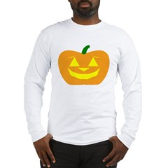 Smiling Pumpkin Halloween Long Sleeve T-Shirt