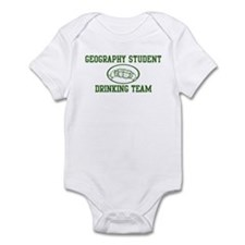 Geography Student Drinking Te Infant Bodysuit