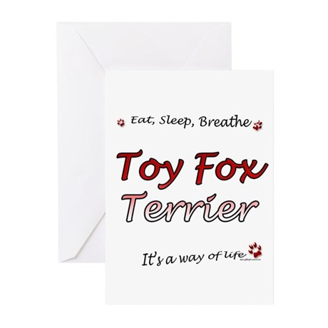 Toy Fox Breathe Greeting Cards (Pk of 20)