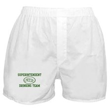 Superintendent Drinking Team Boxer Shorts