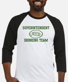 Superintendent Drinking Team Baseball Jersey