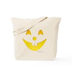 Grinning Pumpkin Face Tote Bag