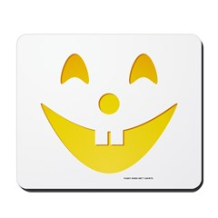 Grinning Pumpkin Face Mousepad