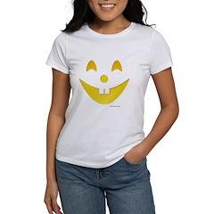 Grinning Pumpkin Face Women's T-Shirt