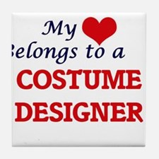 My heart belongs to a Costume Designe Tile Coaster