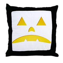Angry Pumpkin Halloween Throw Pillow