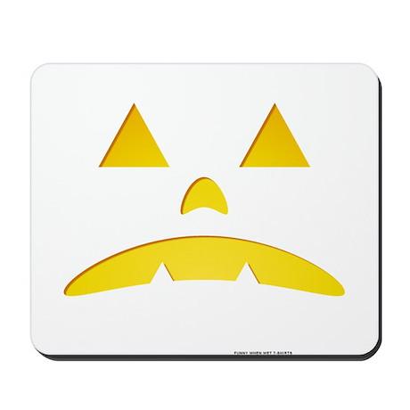 Angry Pumpkin Halloween Mousepad