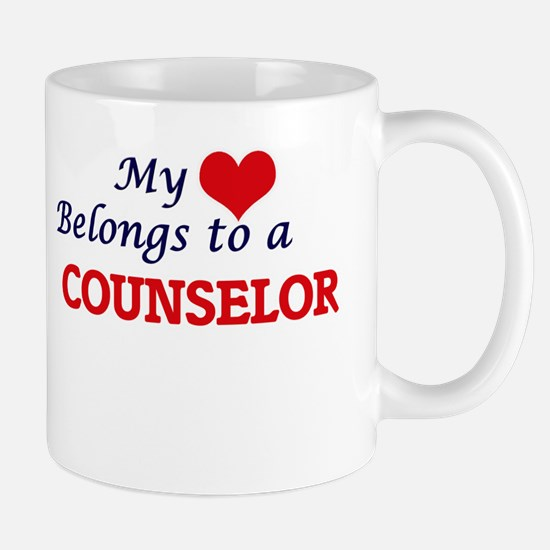 My heart belongs to a Counselor Mugs