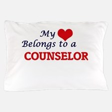 My heart belongs to a Counselor Pillow Case