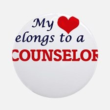 My heart belongs to a Counselor Round Ornament