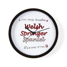 Welsh Springer Breathe Wall Clock