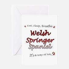 Welsh Springer Breathe Greeting Card