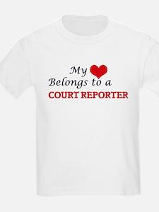 My heart belongs to a Court Reporter T-Shirt