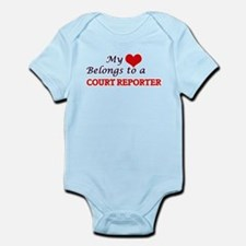 My heart belongs to a Court Reporter Body Suit