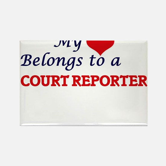 My heart belongs to a Court Reporter Magnets