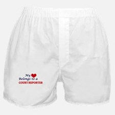 My heart belongs to a Court Reporter Boxer Shorts
