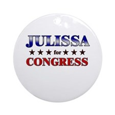 JULISSA for congress Ornament (Round)
